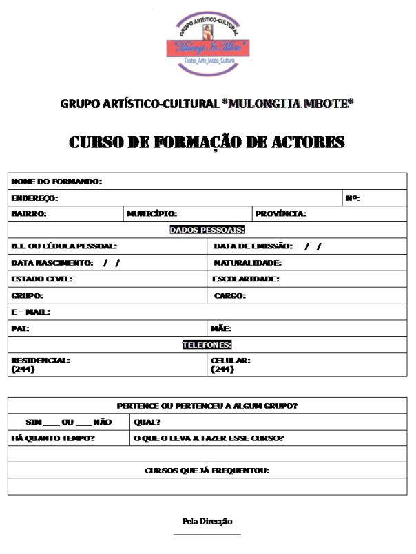 Ficha de inscrição (individual)